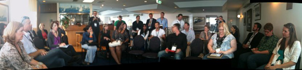 Panorama of one of the REBC discussion sessions