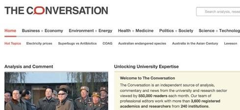 The Conversation web site