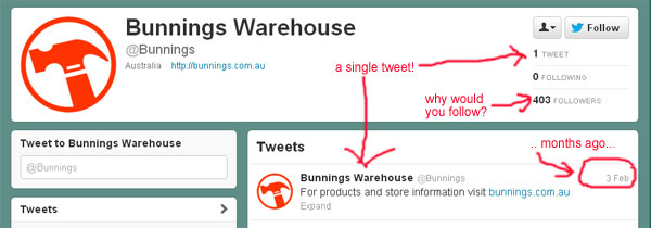 why bother Bunnings? oh, you haven't