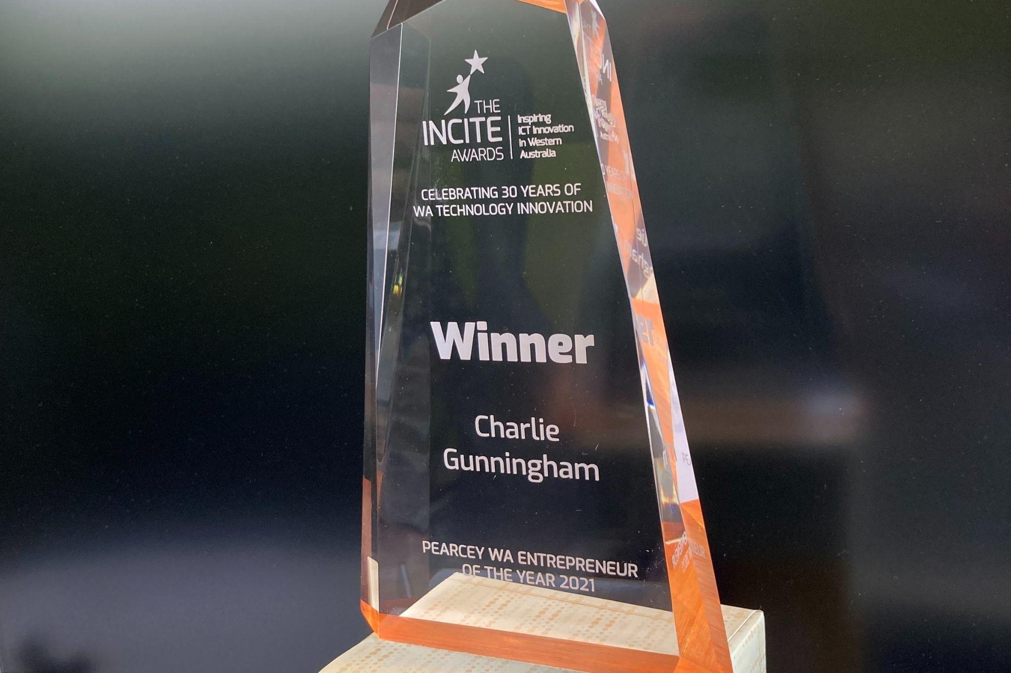 Incite Awards trophy